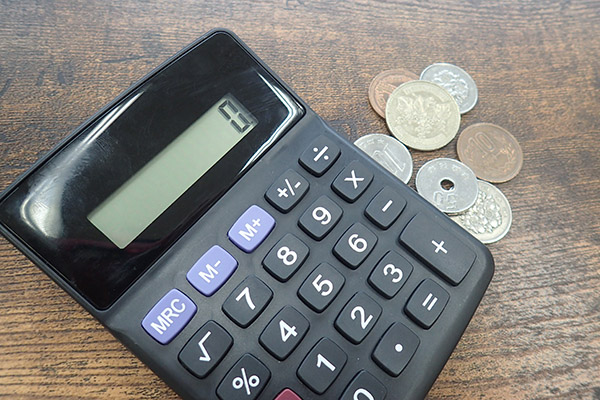電卓と お金